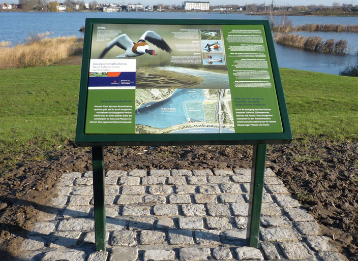 Umweltgrafik: Infotafel-Holzhafen